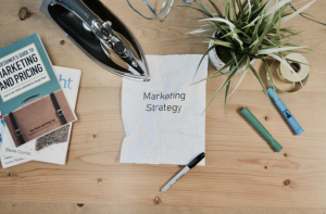 marketing strategy printed on paper